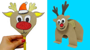4 DIY christmas crafts | How to make <b>christmas deer</b> | Christmas ...