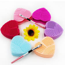 heart silicone brush cleaner egg makeup brushes cleaner cleaning glove brushegg cosmetic professional make up brushes tools dhl drop ship sponges sponge