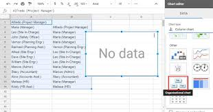 How To Create Site Organisation Chart In Google Sheets