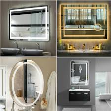 Mirror With Lights Ebay Details About Luvodi Led Bathroom Wall Mount Mirror Illuminated Lighted Vanity Mirror Hardwire