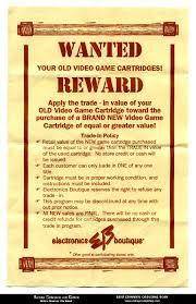 vc g electronics boutique used games wanted reward flyer flier circa 1994