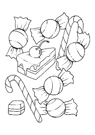 Candyland Coloring Pages For Kids Activity