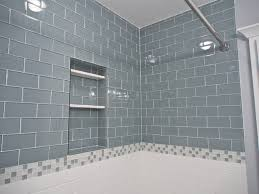 inspiration for an eclectic gray tile and subway tile bathroom remodel in san francisco