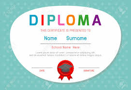 Children Certificate Template Certificates Kindergarten And Elementary Kids Diploma Certificate