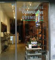 front at obsessive pulsive cosmetics in new york city