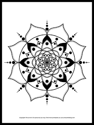 Welcome preschool teachers and parents, it's time to color. Free Printable Mandala Coloring Page The Art Kit