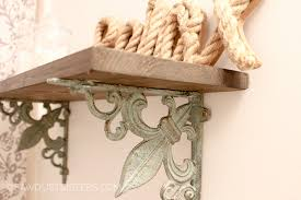 20 min diy shelf with ornate brackets