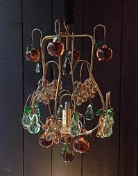 multicolored glass chandelier