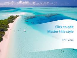 Free Paradise Beach Powerpoint Template Free Powerpoint Templates