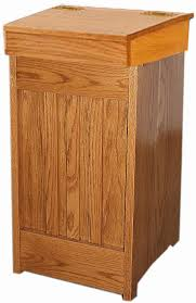 wood kitchen mission trash cans amish oak or cherry 13 gal trash can