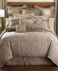 waterford hazeldene 4 piece queen comforter set taupe bedding ensemble 412 e419