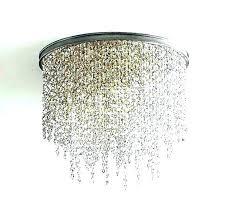 flush chandeliers flush fitting crystal