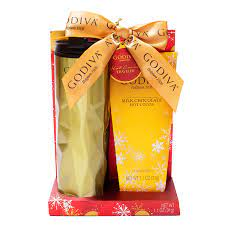 Our lady godiva ceramic coffee mugs come in two sizes. Amazon Com Thoughtfully Gifts Godiva Travel Set Includes Godiva Travel Mug With Lid And Package Of Godiva Milk Chocolate Hot Cocoa Grocery Gourmet Food