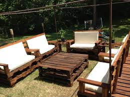 Fantastic Diy Rustic Wood Outdoor Patio Furniture Set Ideas With White  Cushions And Oversized Square Coffee Table