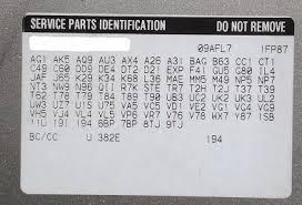 Decoding General Motors Rpo Codes Newgmparts Com