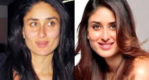 on large screen bollywood actresses look very attractive but their faces in the film are very diffe from their original faces in normal life