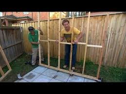 DIY  building your own shed   YouTube