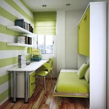 Minimalist Lime Green and Grey Kids Bedroom