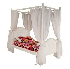 Bedroom: Colorful Floral Sheet Twin Canopy Bed With Clear White ...