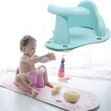 4 colors baby bath tub ring seat infant child toddler kids anti slip safety chair green