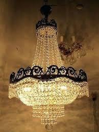large swarovski crystal chandelier earrings antique french huge basket real