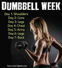 free at home workout plan with dumbbells