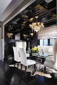 ornate dining room table and chairs. black ceiling - need to decide between ornate or plain dining room table and chairs