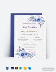 wedding invitation card template word