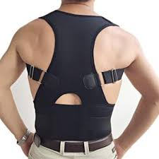 2017 Posture Brace Shoulder Back Support Men Hot Sale Belly Sweat Belt Corrector (Black) Malaysia