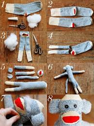 Sock Monkey Pattern Interesting How To Make A Sock Monkey Sewing Pinterest Monkey Pattern