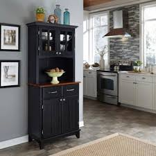 Black Hutch Buffet with Wood Top P imwidth=320&impolicy=medium