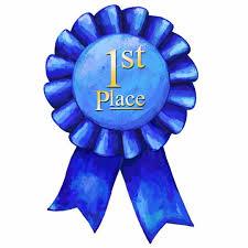 Blue Ribbon Design Blue Ribbon 1st Place Cutout