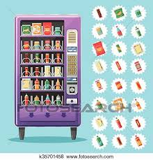 Vending Machine Clip Art Magnificent Clip Art Of Vending Machine With Snacks And Drinks Vector