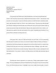 hinduism reflection paper david garcia th ms deady 2 pages romeo and juliet dramatization reflection essay
