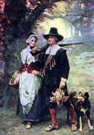 John Alden and wife Priscilla Mullins, Pilgrims in Plymouth Colony