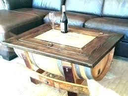 reversible reclaimed wine barrel. Half Wine Barrel Table Coffee Large Size Chandelier Home Depot Barre Wooden Round Pottery Barn Ba Reversible Reclaimed