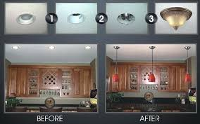 awesome inspiration ideas change recessed light to pendant creative pertaining remodel 1