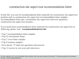 Letter Of Recommendation Supervisor Thumbnail Construction Recommendation Letter Reference Template Site
