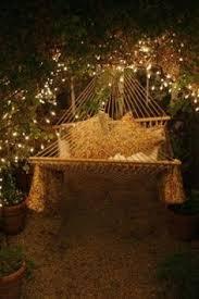 outdoor fairy lighting. an elegant use for fairy lights hammock and garden outdoor lighting t
