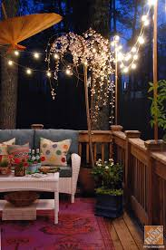 diy outdoor party lighting. Add Color To Your Deck With Lighting And More Diy Outdoor Party T