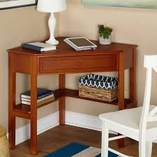 Corner table with shelves Floating Shelves Corner Writing Desk With Pullout Drawer And Shelf Multiple Finishes Walmartcom Walmart Corner Writing Desk With Pullout Drawer And Shelf Multiple Finishes