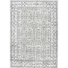 vintage waddell grey 9 ft x 12 ft area rug