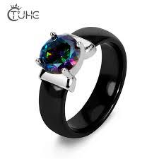 Женское керамическое <b>кольцо</b> с радужным фианитом, <b>белое</b> ...