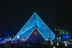 Py1 Is An 81 Foot Tall Pyramid With Lights Lasers And