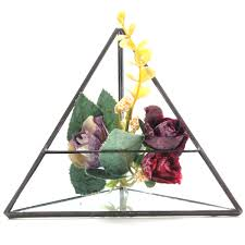 15cm triangle greenhouse glass terrarium diy micro landscape succulent plants flower pot alexnld com