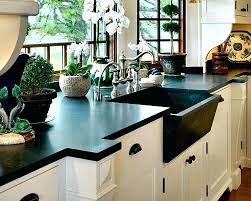 synthetic stone countertops shining black modern kitchen counter