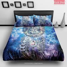 dream catcher on nebula galaxy cloud bedding sets home gift home nebula bedding