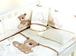 teddy bear crib bedding teddy bear crib bedding sets white cotton embroidery bear baby bedding set