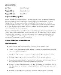 Customer Service Job Description Retail Retail Duties And Responsibilities For Resume Yuriewalter Me