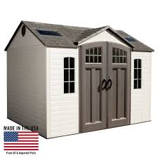 lifetime 10 ft x 8 ft outdoor storage shed desert sand